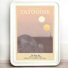 Star Wars Tatooine Retro Travel Print - shop by price