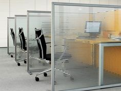 Slim by Estel Group Srl: Slim is a 3 cm thick structural partition consisting - Request the best price or other information! Corporate Office Design, Office Space Design, Office Furniture Design, Office Interior Design, Office Interiors, Office Cubicle Design, Open Concept Office, Open Office, Desk Partitions