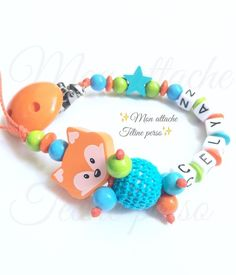 attache tétine personnalisée bois   fabriquée avec des matériaux aux normes UE jouets en bois enfants DIN EN 71- clip fil et perles résistants à la salive et à la sueur e - 14477551