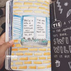 Wreck This Journal, QOTD. (instagram: wikearts)
