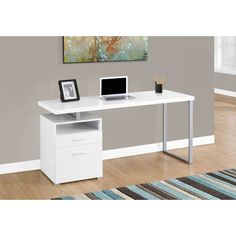 Shop for White and Silver Metal Computer Desk. Get free shipping at Overstock.com - Your Online Furniture Outlet Store! Get 5% in rewards with Club O!