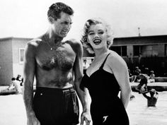 Cary Grant and Marilyn.