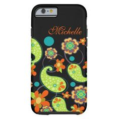 Cute Paisley Floral Name iPhone 6 Case