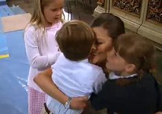 Crown Princess Victoria of Sweden with 3 of her godchildren. Princess Catharina Amalia of the Netherlands, Prince Christian of Denmark, & Princess Ingrid Alexandra of Norway