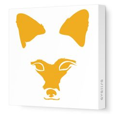 Fox Face Stretched Wall Art @LaylaGrayce