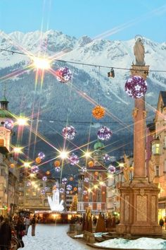 Innsbruck Christmas Market, Austria Next time we stop instead of driving around Innsbruck!!