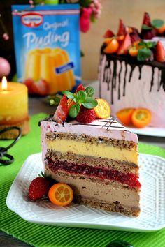 Dessert Cake Recipes, Sweet Desserts, Sweet Recipes, Torte Recepti, Kolaci I Torte, Baking Recipes, Cookie Recipes, Chocolate Raspberry Cake, Raspberry Recipes