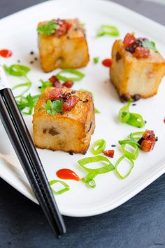 Prajitura sarata cu ridichi albe Traditional Chinese Food, Turnip Cake, Asian Recipes, Sushi, Breakfast, Sweet, Step By Step, Food Food, Morning Coffee