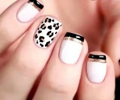 31 ideas for nails white gold design animal prints Stiletto Nails, Glitter Nails, Fun Nails, French Nails, French Pedicure, Nail Selection, Leopard Print Nails, Leopard Prints, Animal Prints