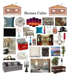 """""""Hermes Cabin"""" by fandoms-have-eaten-my-soul ❤ liked on Polyvore featuring Dot & Bo, L'Objet, nuLOOM, Kevin O'Brien, Pillow Decor, 3.1 Phillip Lim, Stonebriar Collection, Mountain Lodge, Lava and Nearly Natural"""