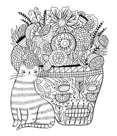 by Sarah Walsh Just Add Color Day of the Dead Coloring book/Rockport