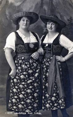 Tirol, austria 1928 Dirndl - Photogr. Kunstverlag A. Stockhammer, Hall Tirol 1928
