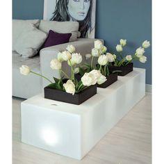 Φωτιζόμενη γλάστρα τριών θέσεων Vase, Plants, Home Decor, Gardens, Flowers, Style, Decoration Home, Room Decor, Plant