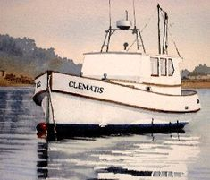 Part 2 - how to paint a boat, watercolor demo