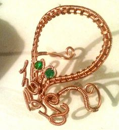 Copper Wire Wrapped Octopus Cuff Bracelet with by CPaulDesigns