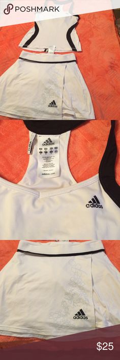 Workout gear!! Adidas white and black workout gear in great condition! Adidas Other