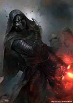 cyberclays: Kylo Ren - Star Wars fan art by Ron-faure (Sarayu Ruangvesh) More Star Wars: The Force Awakens fan art on my tumblr [here]