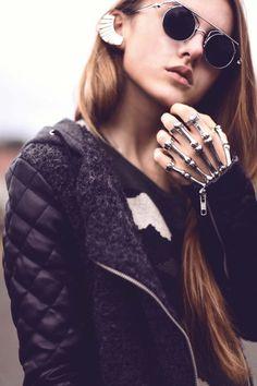 Skeleton Hand Rings