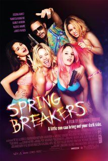 Spring Breakers (2012) 9/10 - I really love how director Harmony Korine captures an exaggerated and idealistic life of generation Y. Starring Selena Gomez, James Franco, Vanessa Hudgens, and Ashley Benson. This film  is purely artistic and unrealistic as a narrative. The cinematography is vibrant and dreamy sucking you into the world of these teens and their spring break of a lifetime.