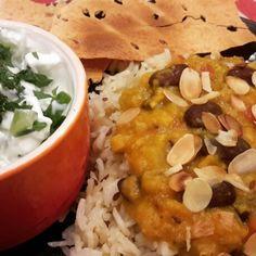 Kidney bean & lentil curry http://wp.me/p5zdfc-3K #vegetarian #recipes #meatfreemonday #dinner #lunch #vegan #curry #CheapFood #lentils #kidneybeans