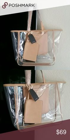Zara Transparent Tote Clear Camel New with tag attached, Authentic Zara. Includes dust bag! SOLD OUT! Zara Bags Totes