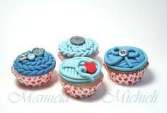 Knit Lovers' Cake - Cake by Manuela P. Mini Cupcakes, Cupcake Cakes, Cupcake Ideas, Knitting Cake, Sewing Cake, Italian Cake, Yarn Cake, Dessert Recipes, Desserts