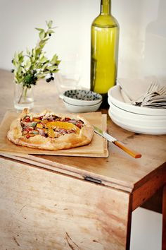 Butternut Squash Pomegranate Galette from designsponge.com for your guests during #Pomegranate Month. #recipe #butter