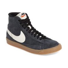 Women's Nike 'Blazer' Vintage High Top Basketball Sneaker ($100) ❤ liked on Polyvore featuring shoes, sneakers, nike, vintage high top sneakers, nike trainers, vintage shoes and vintage footwear