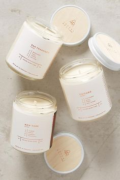 Lavender or Vanilla Candles in pretty jars - also peppermint