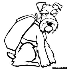 miniature schnauzer coloring page free miniature schnauzer online coloring