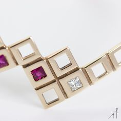 The Pyramid Bracelet gives reverence to the intersection of simple geometry and sophisticated composition.  #afewjewels #jewel #fashion #style #moda #gold #diamond #ruby #pink #rose #bracelet #pyramid #pyramidbracelet #photoofhteday #picoftheday #amazing #beautiful #geometry #sophisticated #goodnight #instamood #instagood #fashionista #mood #unique