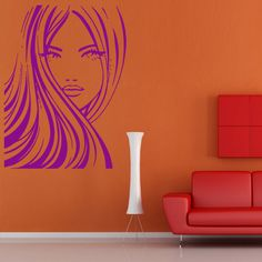 Wall Decal Hair Hairstyle Decor Salon Beauty Master Work Stylist Girl Woman M734 in Home, Furniture & DIY, Home Decor, Wall Decals & Stickers | eBay
