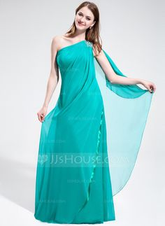 Prom Dresses - $136.99 - A-Line/Princess One-Shoulder Floor-Length Chiffon Prom Dress With Ruffle Beading (018017381) http://jjshouse.com/A-Line-Princess-One-Shoulder-Floor-Length-Chiffon-Prom-Dress-With-Ruffle-Beading-018017381-g17381