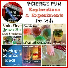 Mom to 2 Posh Lil Divas: 24 Science Explorations and Experiments for Kids - The Sunday Showcase 3/30/13