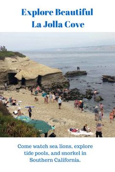 Tips for visiting La Jolla Cove near San Diego with a family.   TipsforFamilyTrips.com