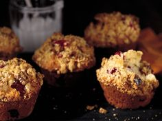 Cranberry Muffins with Walnut Crumb Topping | Food & Wine goes way beyond mere eating and drinking. We're on a mission to find the most exciting places, new experiences, emerging trends and sensations.