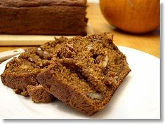 Oil Free Pumpkin Bread (read comments for ideas on making it healthier)