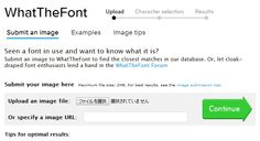 WhatTheFont! « MyFonts  (via http://www.myfonts.com/WhatTheFont/ )