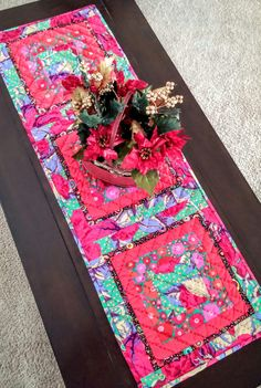 IT'S HERE! 40% OFF...2016 CLEARANCE Boho Chic Christmas Table Runner By LittleWheelerQuilts on Etsy