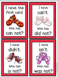 I Have, Who Has-Contractions (2 Complete Games)
