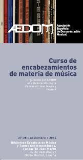 Encabezamiento de materia de música