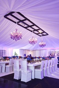 chic and modern  event design  and draping ♥