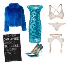 """""""beautiful blue"""" by mnr-jewel on Polyvore featuring Agent Provocateur, Adrianna Papell, Posh Girl, women's clothing, women, female, woman, misses and juniors"""
