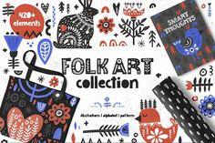 Folk Art Graphic Collection - Illustrations - 1