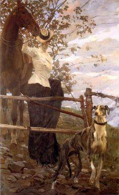 L'Amazzone di Ettore Tito , ( 1906 ) Genova . Raccolte Frugone.