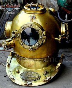 BOSTON MASS US NAVY MARK V SOLID STEEL DIVERS DIVING HELMET DEEP SEA SCUBA IxN - http://scuba.megainfohouse.com/boston-mass-us-navy-mark-v-solid-steel-divers-diving-helmet-deep-sea-scuba-ixn/