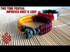Two Color Fishtail (No Buckles) Paracord Bracelet Tutorial (Improved Knot and Loop Method) - YouTube