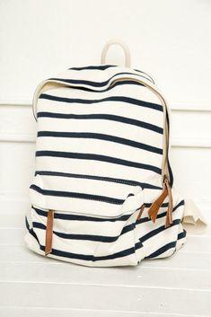 striped backpack Nautical Backpacks 1e85db4c64