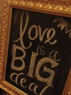 love is a BIG deal  Embellish Productions  #black and gold wedding