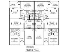 one level duplex craftsman style floor plans duplex plan 87940